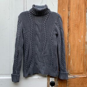 Lands' End gray turtleneck sweater Size Small